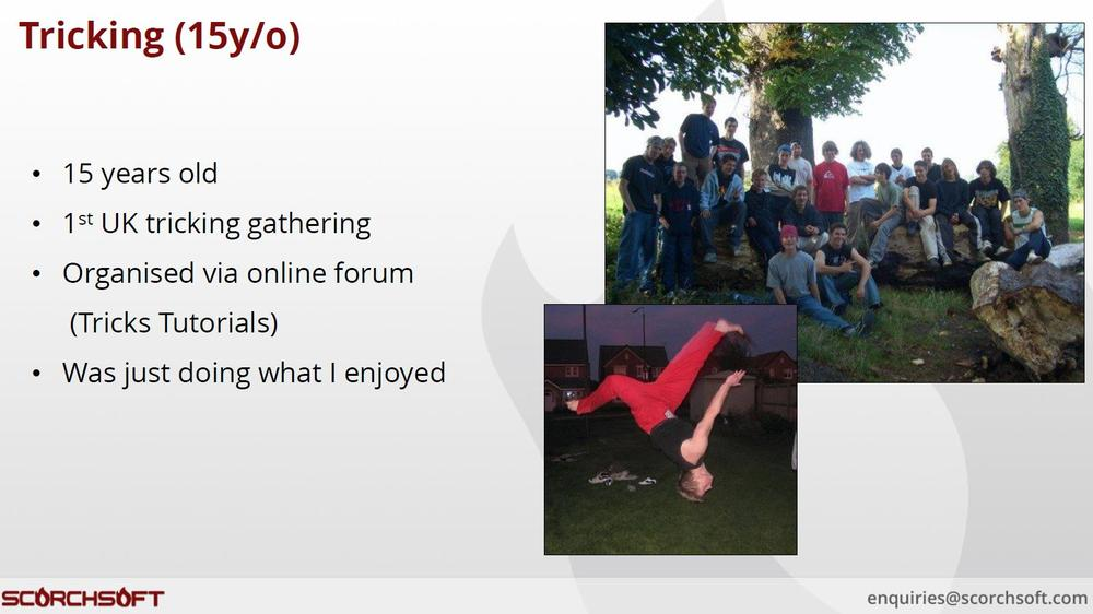 tricking and acrobatics event slide